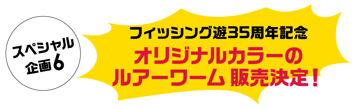 スペシャル企画6「オリカラルアー・ワーム販売」
