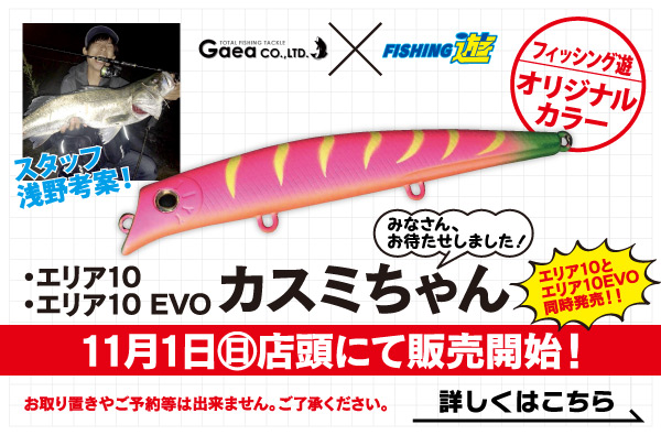 エリア10・エリア10 EVO オリジナルカラー「カスミちゃん」、11月1日(日)店頭にて販売開始!